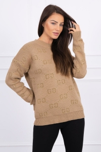 SWETER GG CAMELOWY  2019T29